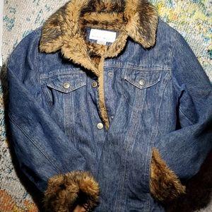 Nine West Jean and faux fur jacket